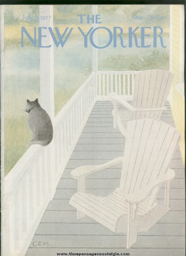 New Yorker Magazine - July 18, 1977 - Cover by Charles E. Martin