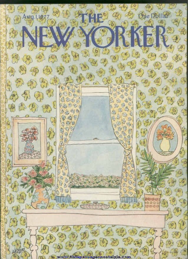 New Yorker Magazine - August 1, 1977 - Cover by Robert Weber
