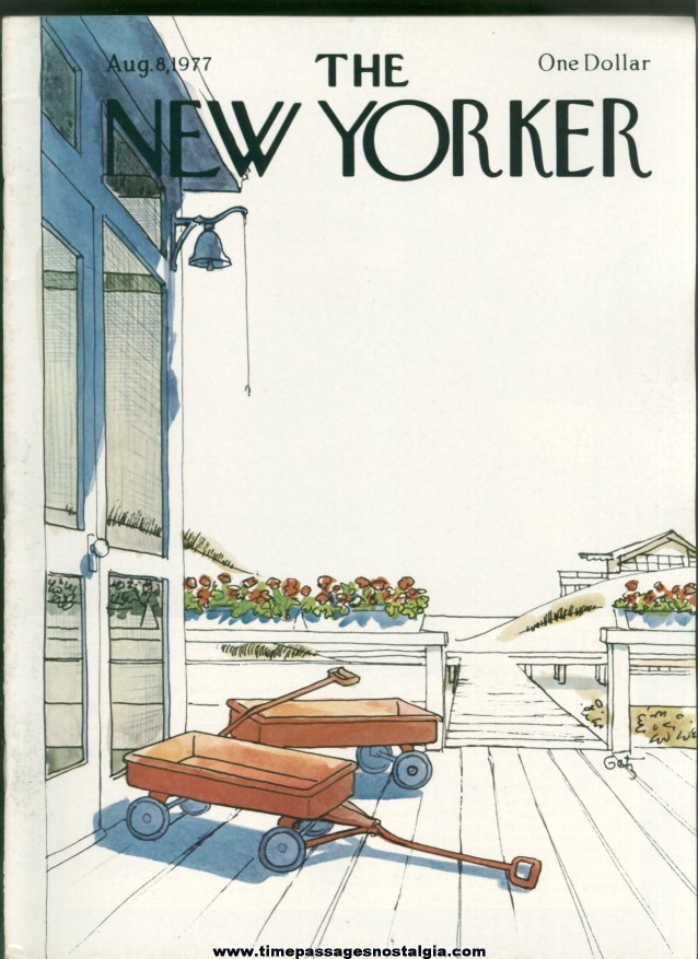 New Yorker Magazine - August 8, 1977 - Cover by Arthur Getz