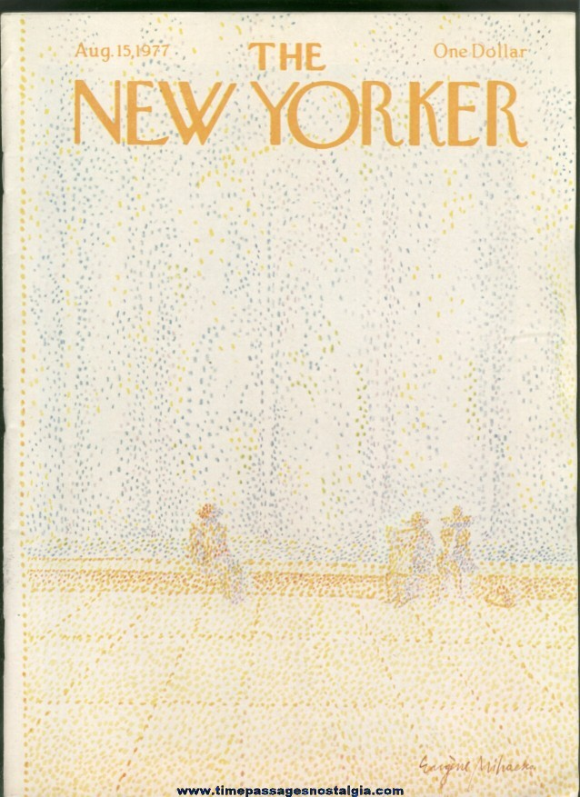 New Yorker Magazine - August 15, 1977 - Cover by Eugene Mihaesco
