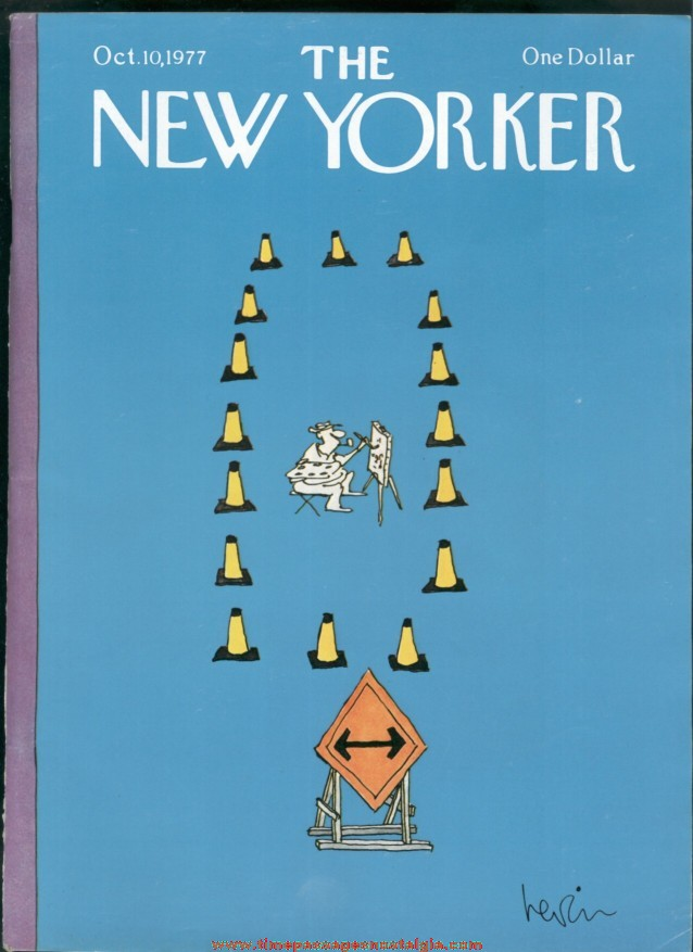 New Yorker Magazine - October 10, 1977 - Cover by Arnie Levin