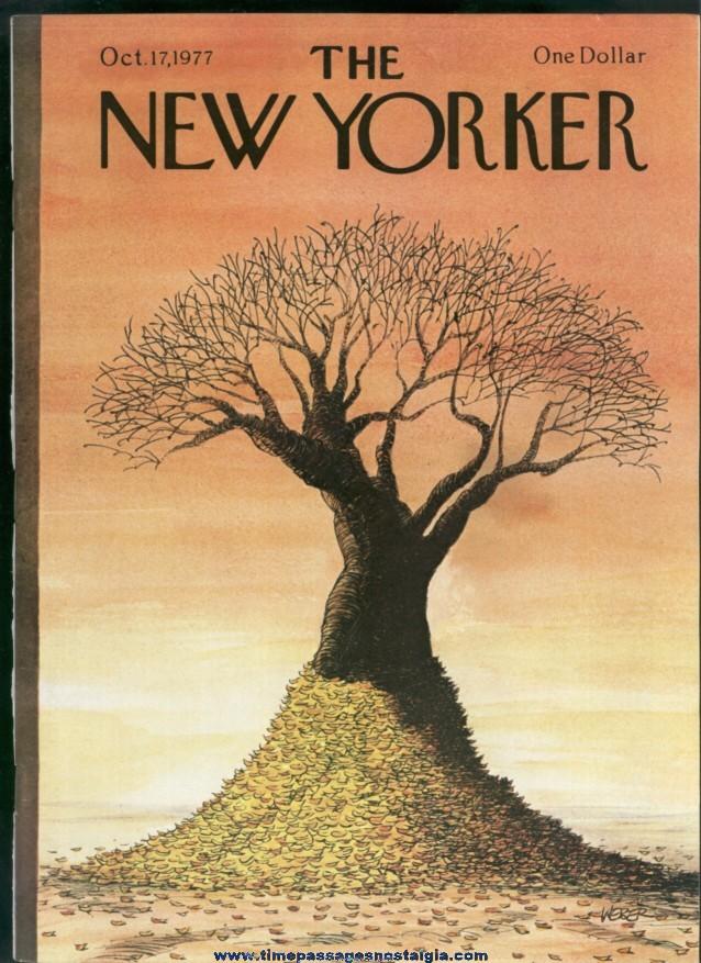 New Yorker Magazine - October 17, 1977 - Cover by Robert Weber
