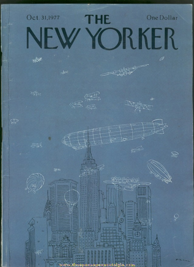 New Yorker Magazine - October 31, 1977 - Cover by R. O. Blechman