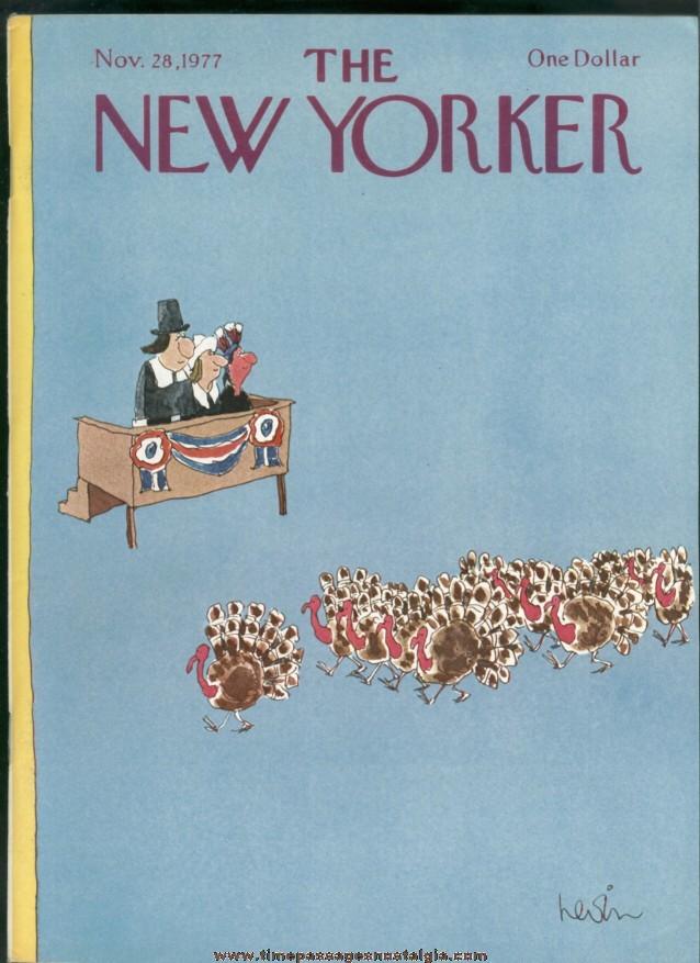 New Yorker Magazine - November 28, 1977 - Cover by Arnie Levin