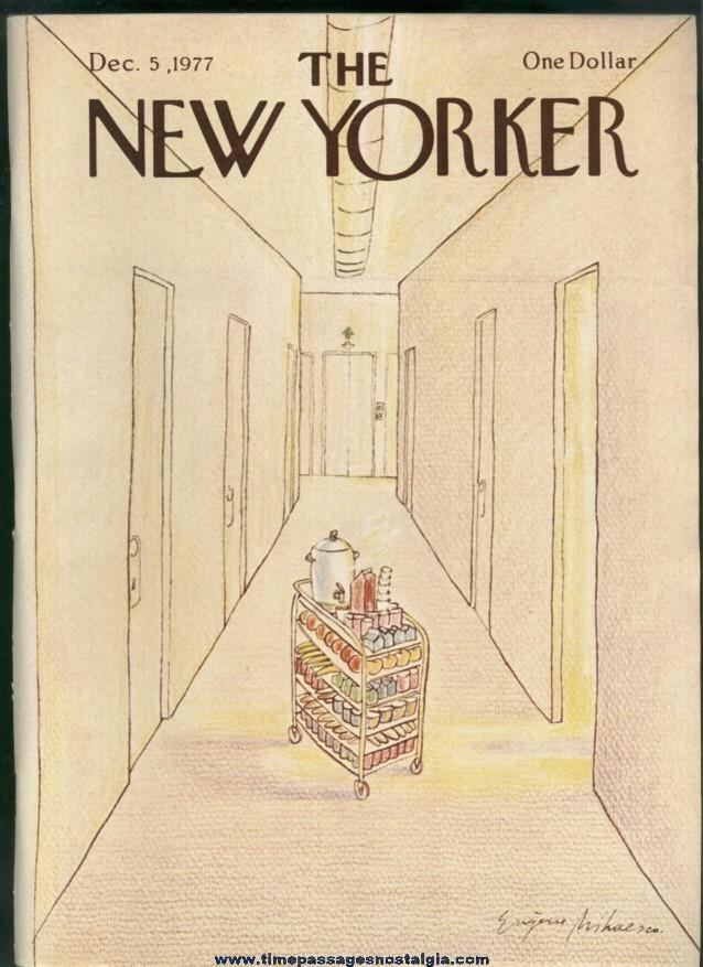 New Yorker Magazine - December 5, 1977 - Cover by Eugene Mihaesco