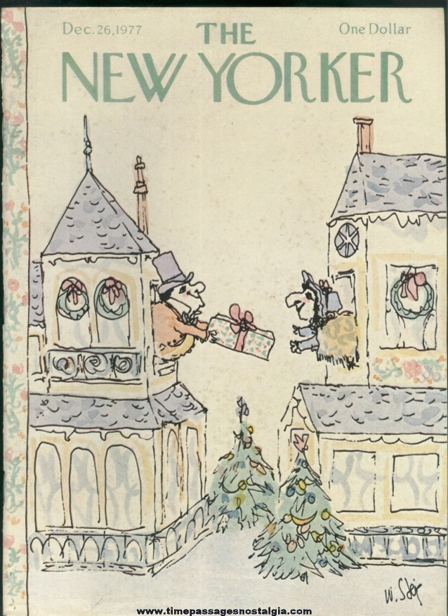 New Yorker Magazine - December 26, 1977 - Cover by William Steig