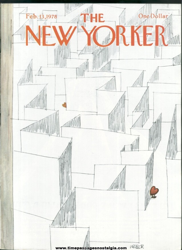 New Yorker Magazine - February 13, 1978 - Cover by Robert Weber