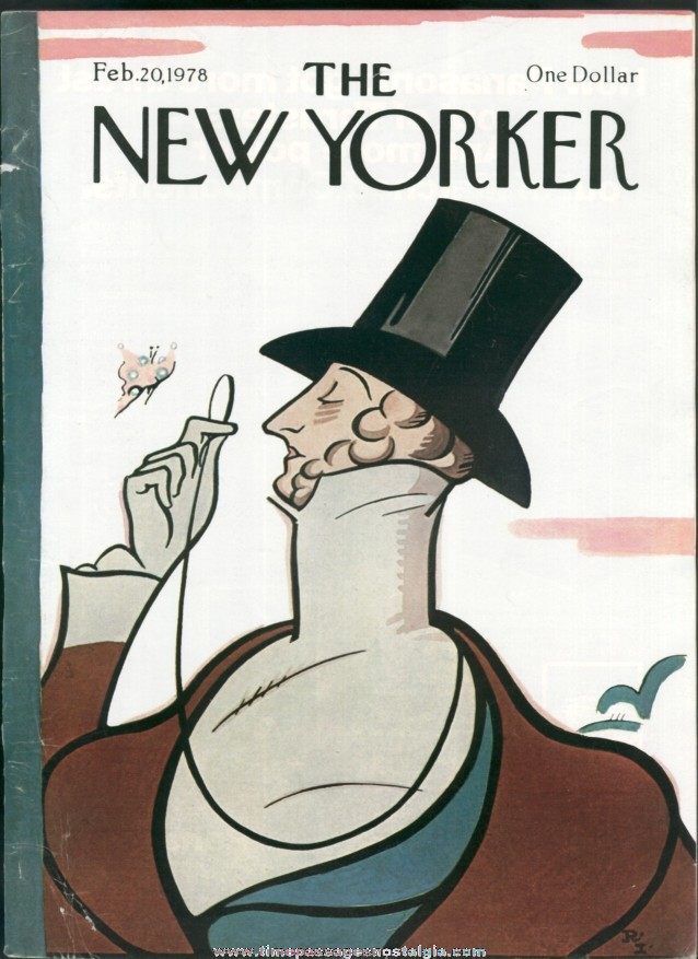 New Yorker Magazine - February 20, 1978 - Cover by Rea Irvin
