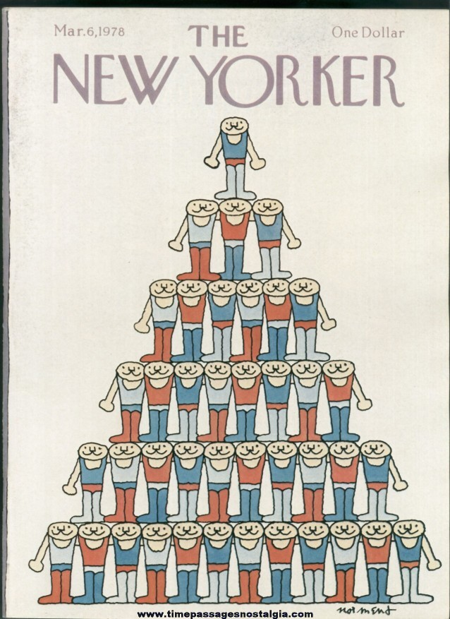 New Yorker Magazine - March 6, 1978 - Cover by John Norment