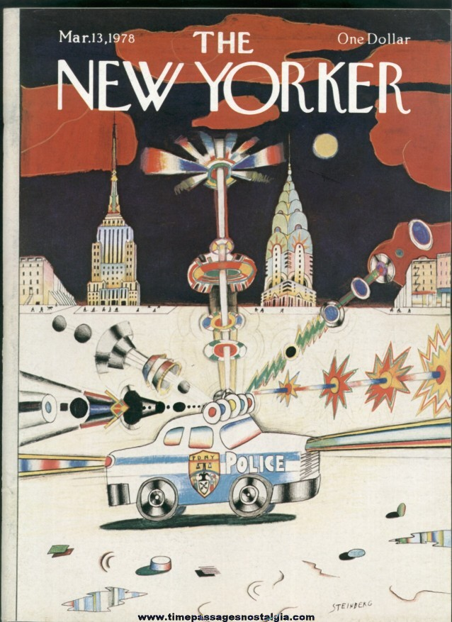New Yorker Magazine - March 13, 1978 - Cover by Saul Steinberg