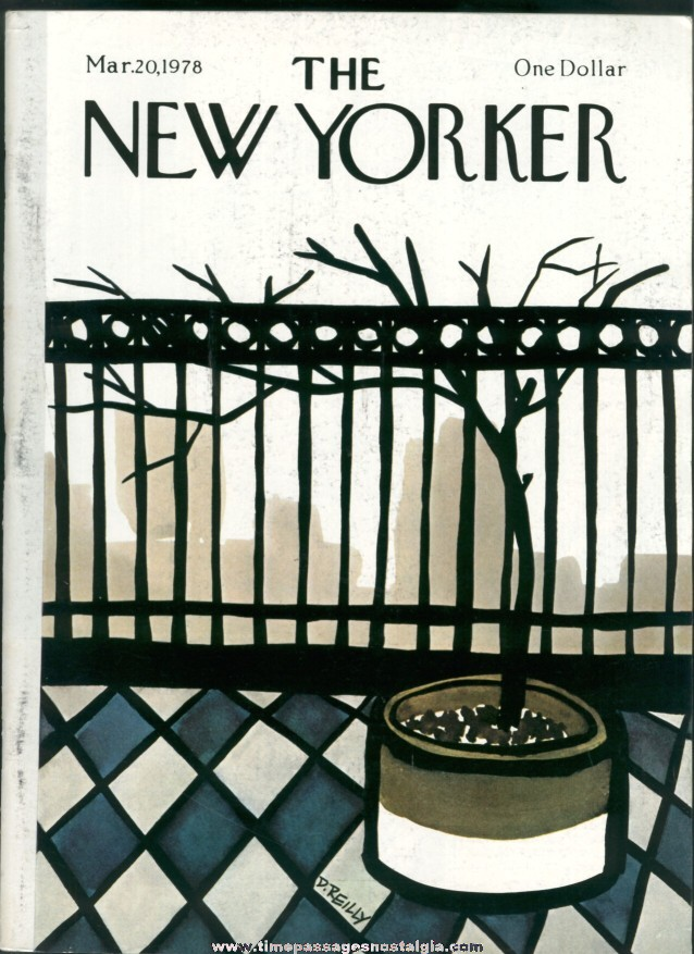 New Yorker Magazine - March 20, 1978 - Cover by Donald Reilly