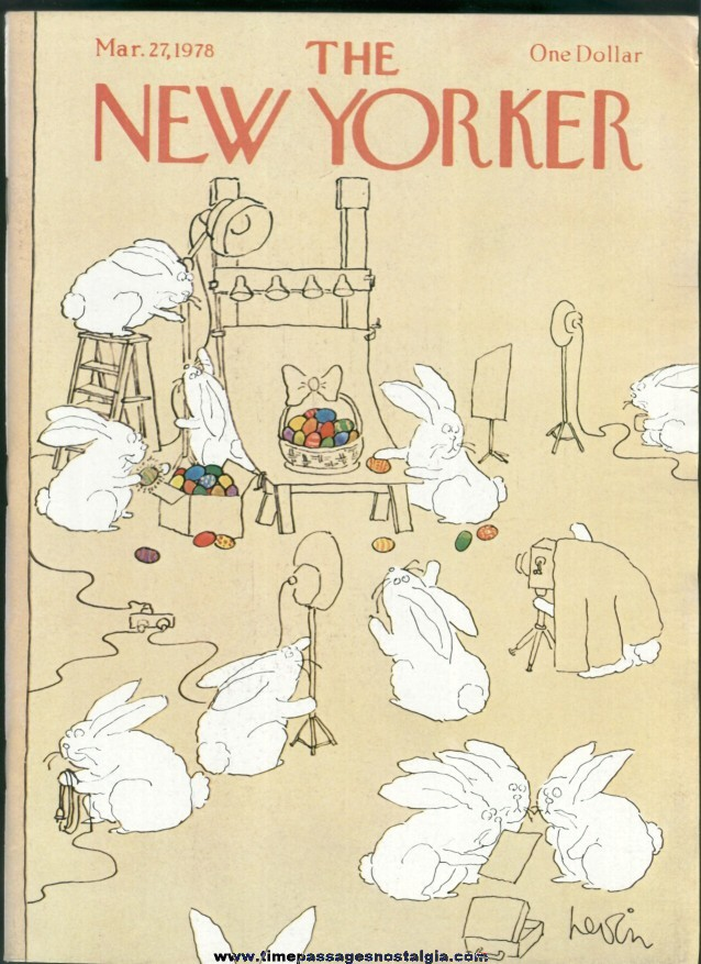 New Yorker Magazine - March 27, 1978 - Cover by Arnie Levin