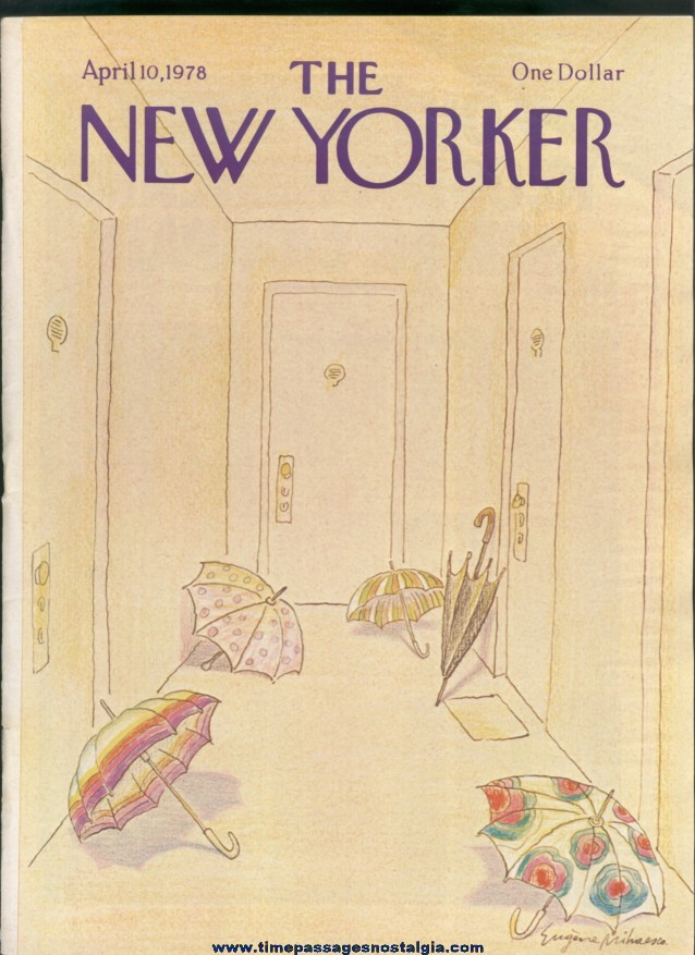 New Yorker Magazine - April 10, 1978 - Cover by Eugene Mihaesco