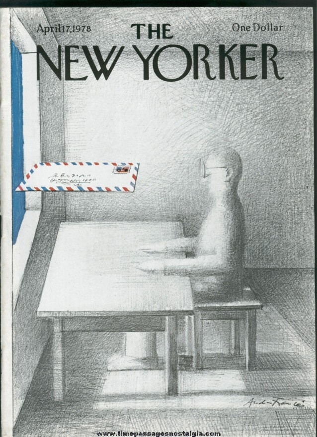 New Yorker Magazine - April 17, 1978 - Cover by Andre Francois