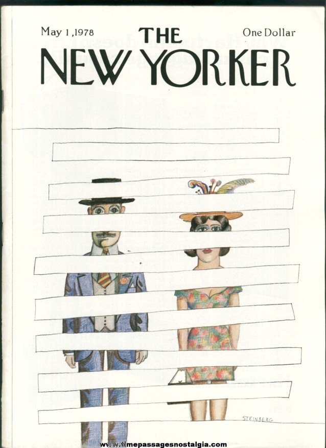 New Yorker Magazine - May 1, 1978 - Cover by Saul Steinberg
