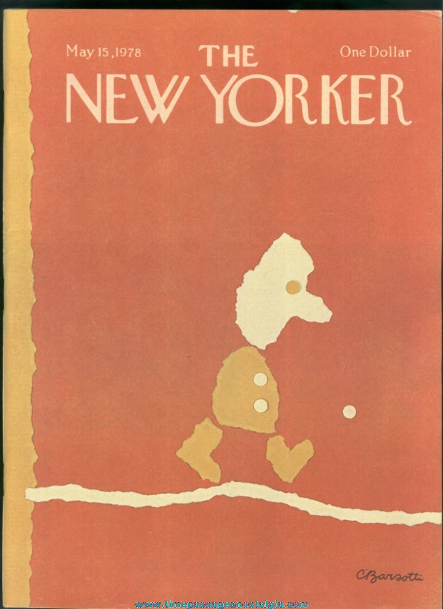 New Yorker Magazine - May 15, 1978 - Cover by Charles Barsotti