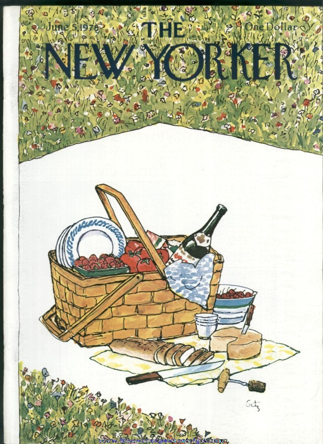 New Yorker Magazine - June 5, 1978 - Cover by Arthur Getz