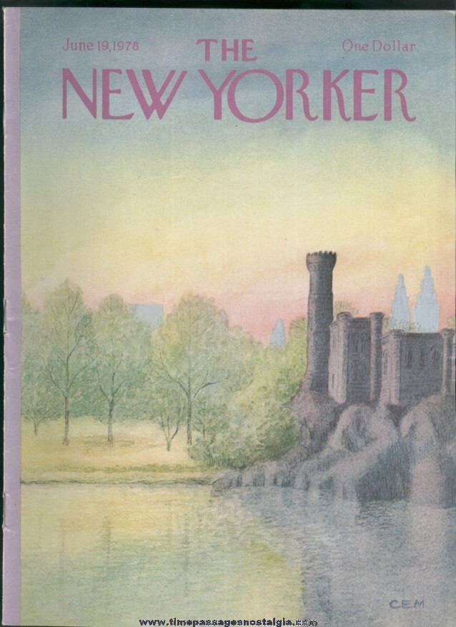 New Yorker Magazine - June 19, 1978 - Cover by Charles E. Martin