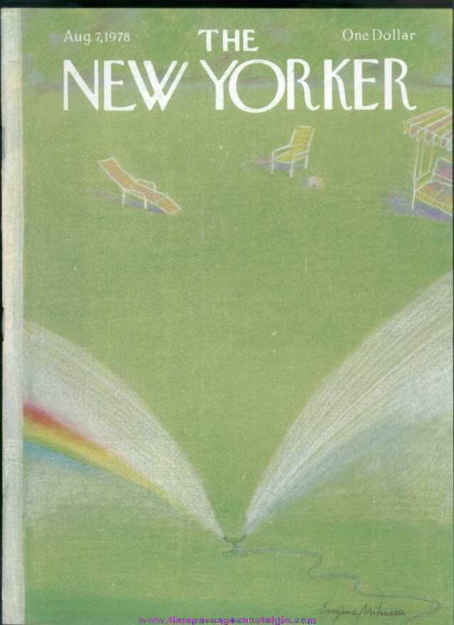 New Yorker Magazine - August 7, 1978 - Cover by Eugene Mihaesco