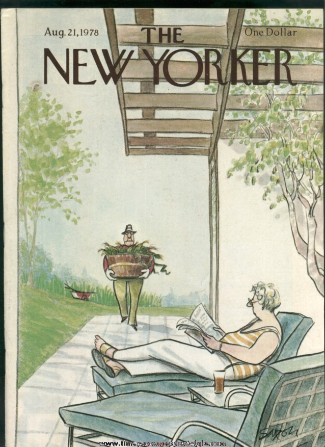 New Yorker Magazine - August 21, 1978 - Cover by Charles Saxon
