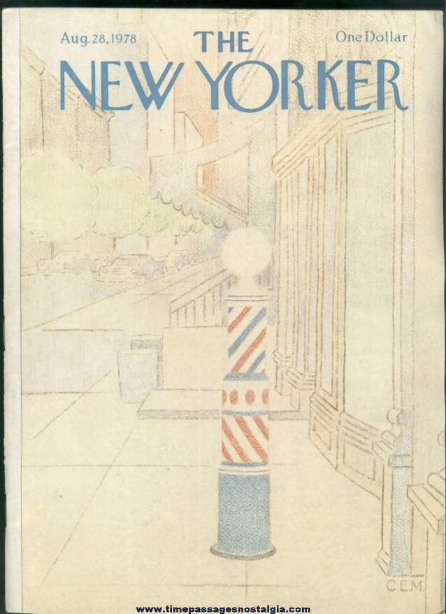 New Yorker Magazine - August 28, 1978 - Cover by Charles E. Martin