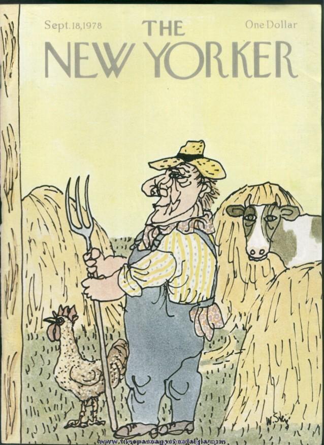 New Yorker Magazine - September 18, 1978 - Cover by William Steig