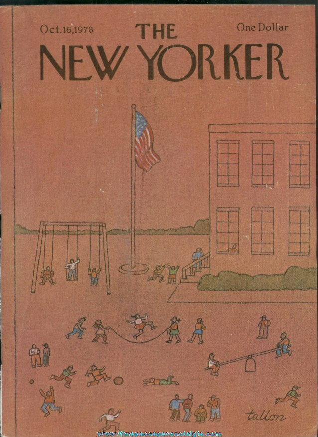 New Yorker Magazine - October 16, 1978 - Cover by Robert Tallon