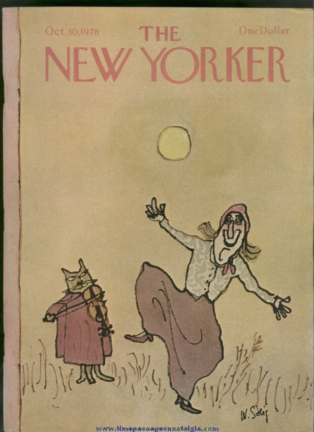 New Yorker Magazine - October 30, 1978 - Cover by William Steig