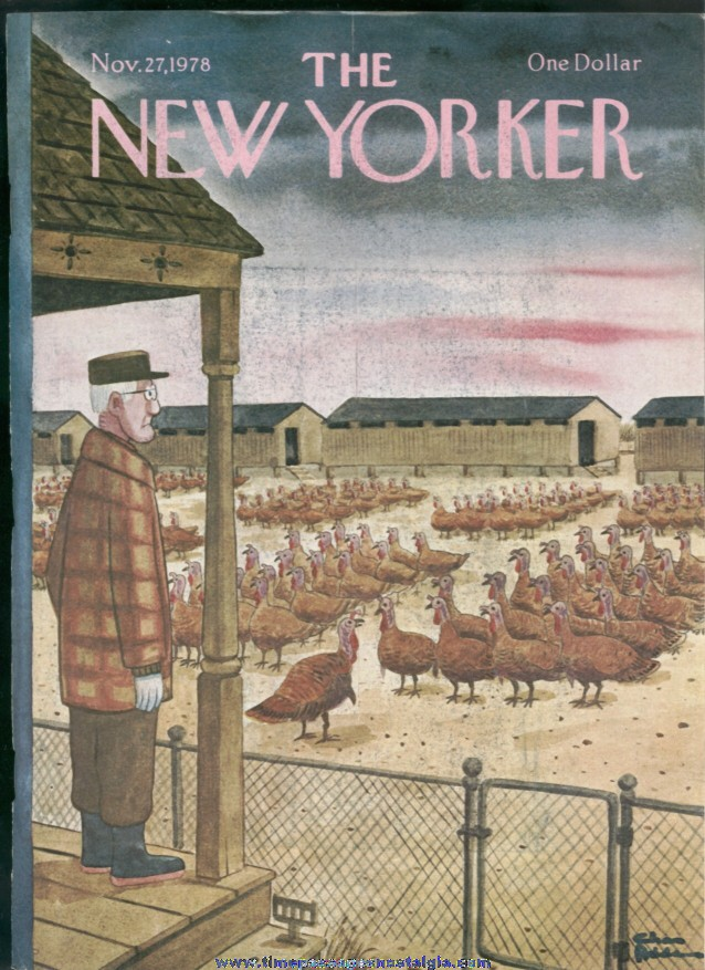 New Yorker Magazine - November 27, 1978 - Cover by Charles (Chas) Addams