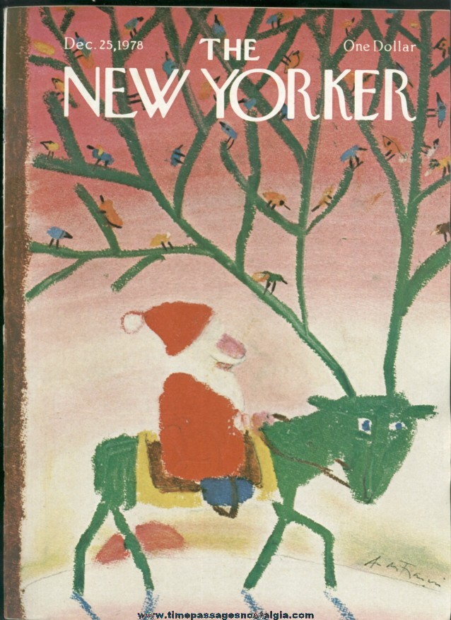 New Yorker Magazine - December 25, 1978 - Cover by Andre Francois