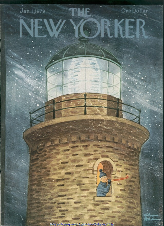 New Yorker Magazine - January 1, 1979 - Cover by Charles (Chas) Addams