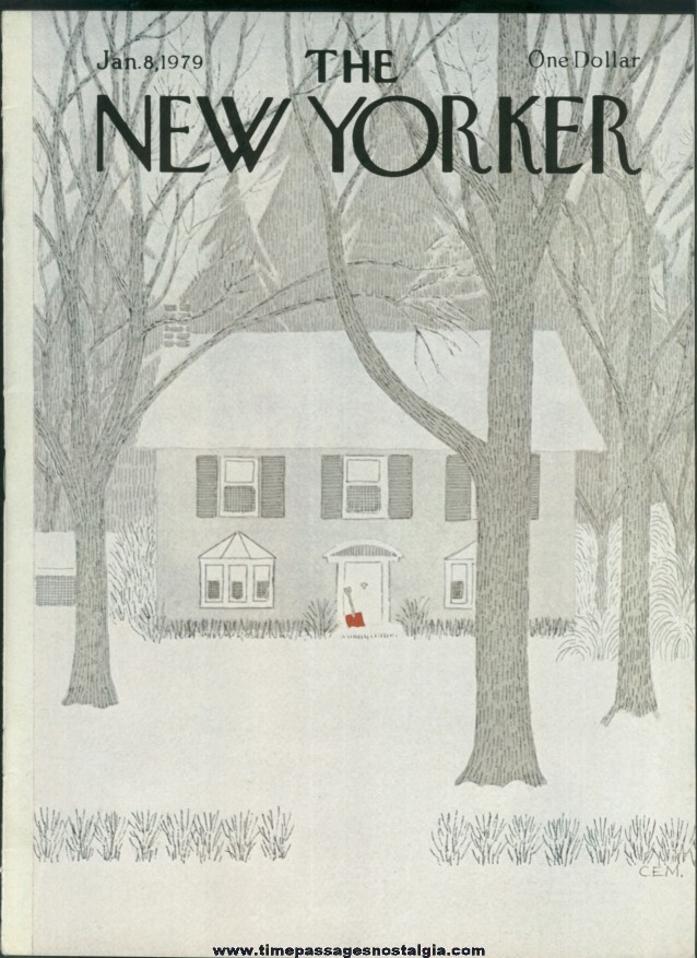New Yorker Magazine - January 8, 1979 - Cover by Charles E. Martin