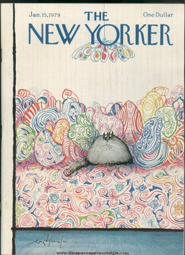 New Yorker Magazine - January 15, 1979 - Cover by Ronald Searle