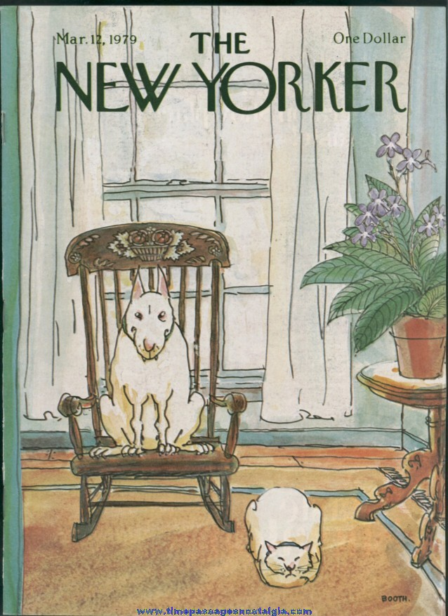 New Yorker Magazine - March 12, 1979 - Cover by George Booth