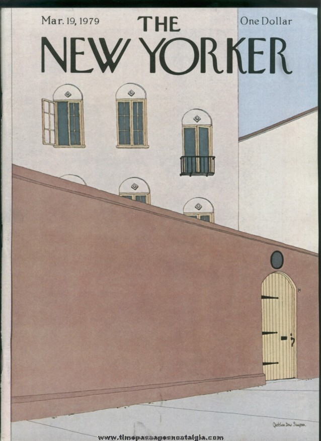 New Yorker Magazine - March 19, 1979 - Cover by Gretchen Dow Simpson