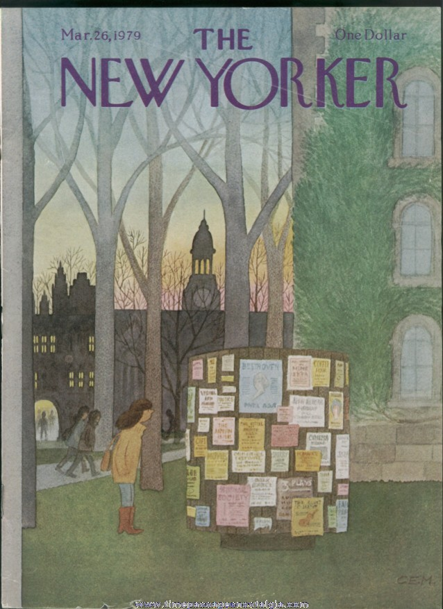 New Yorker Magazine - March 26, 1979 - Cover by Charles E. Martin