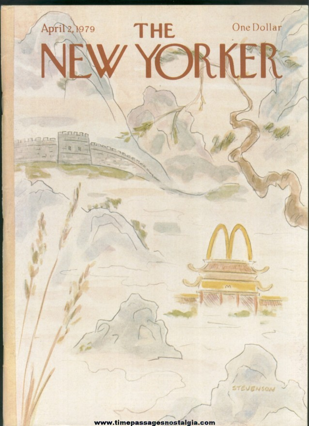 New Yorker Magazine - April 2, 1979 - Cover by James Stevenson