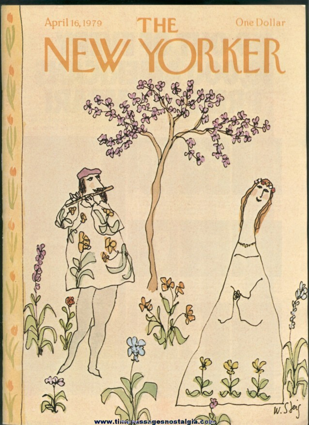 New Yorker Magazine - April 16, 1979 - Cover by William Steig