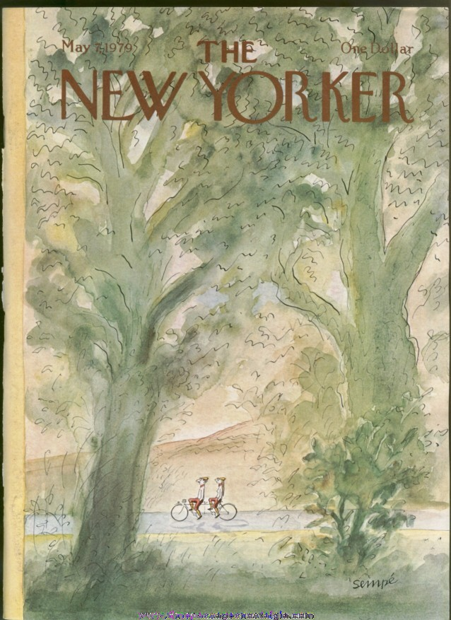 New Yorker Magazine - May 7, 1979 - Cover by J. J. Sempe