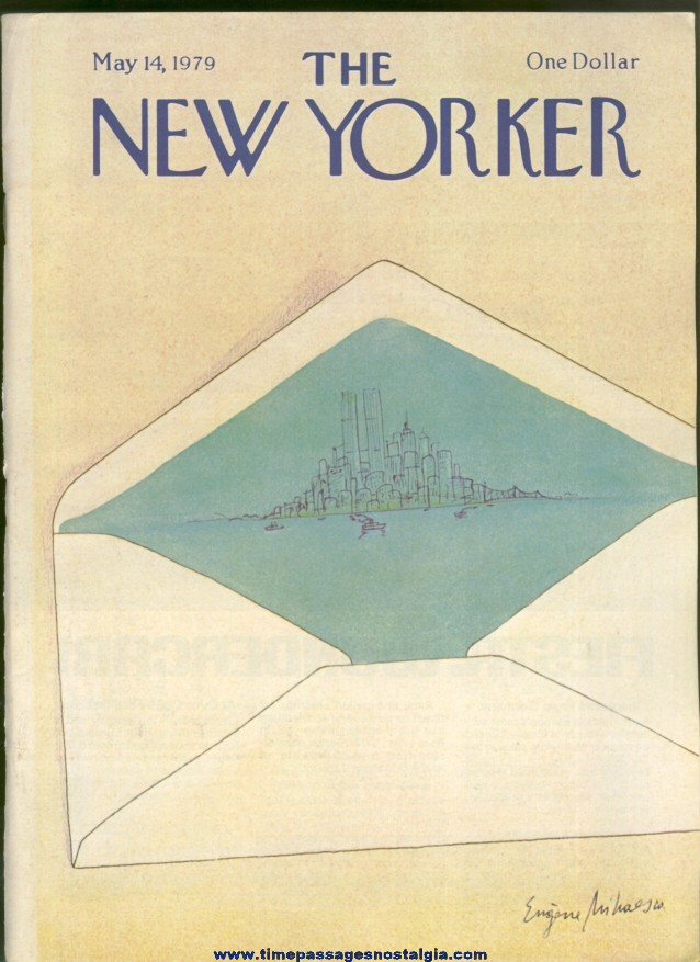 New Yorker Magazine - May 14, 1979 - Cover by Eugene Mihaesco