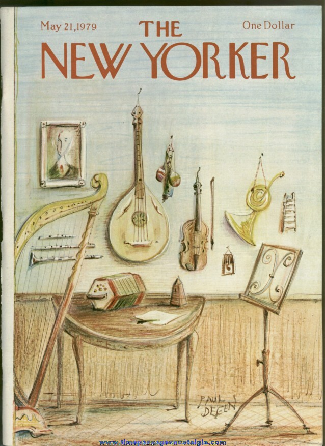 New Yorker Magazine - May 21, 1979 - Cover by Paul Degen