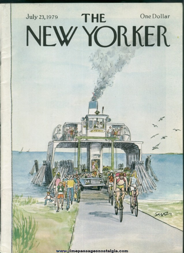 New Yorker Magazine - July 23, 1979 - Cover by Charles Saxon