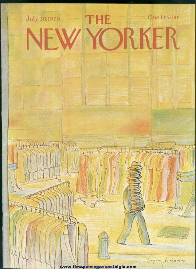 New Yorker Magazine - July 30, 1979 - Cover by Eugene Mihaesco