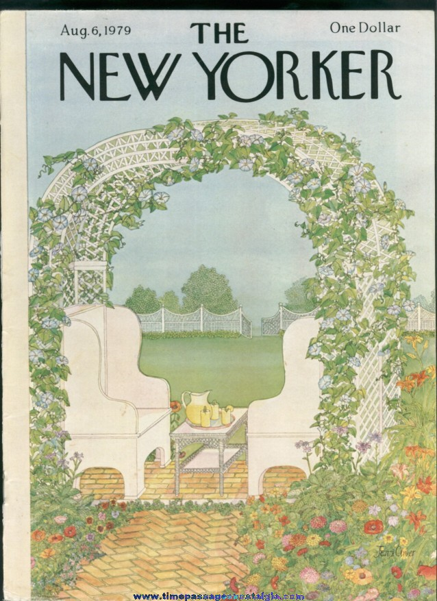 New Yorker Magazine - August 6, 1979 - Cover by Jenni Oliver