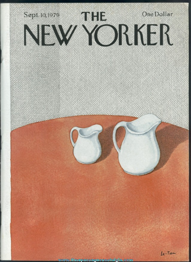 New Yorker Magazine - September 10, 1979 - Cover by Pierre Le-Tan