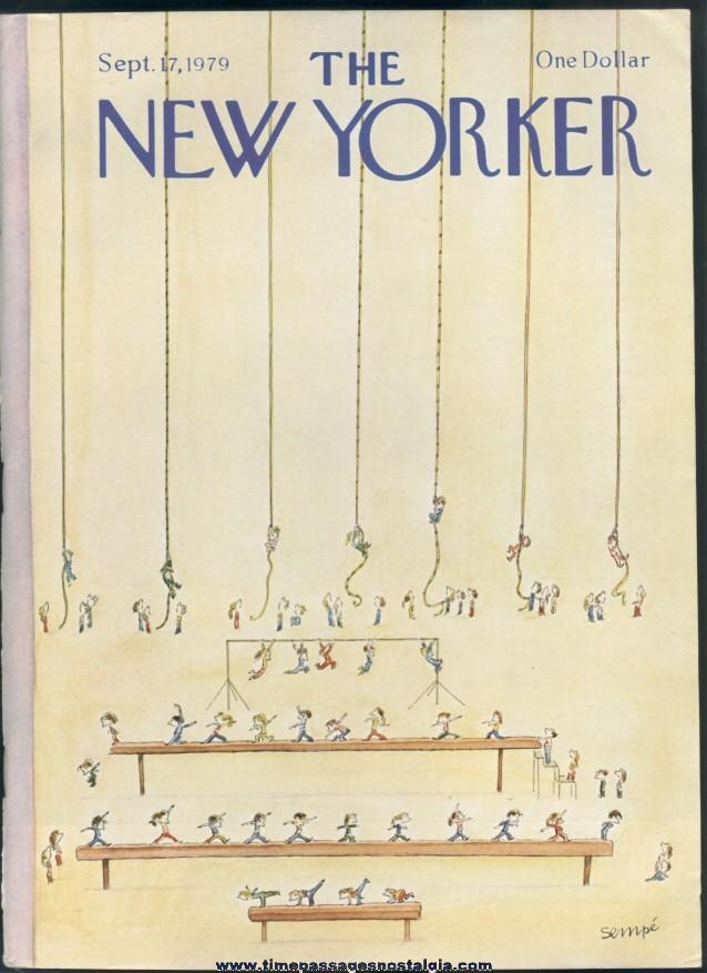 New Yorker Magazine - September 17, 1979 - Cover by J. J. Sempe