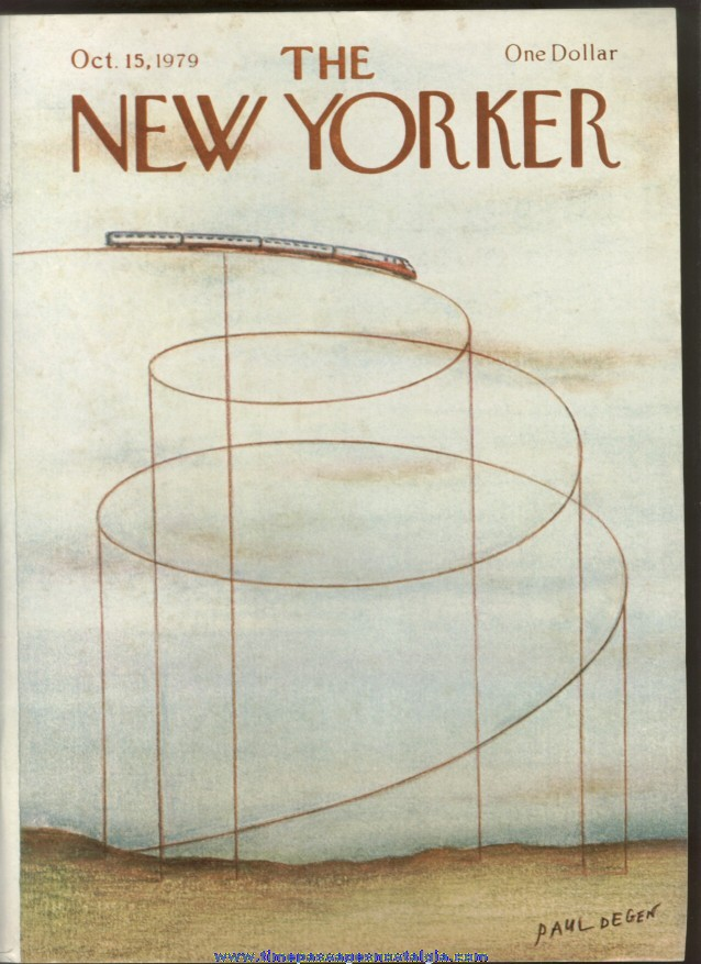 New Yorker Magazine - October 15, 1979 - Cover by Paul Degen