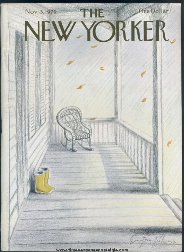 New Yorker Magazine - November 5, 1979 - Cover by Eugene Mihaesco