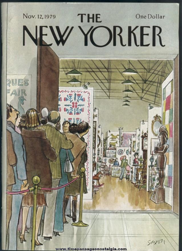New Yorker Magazine - November 12, 1979 - Cover by Charles Saxon