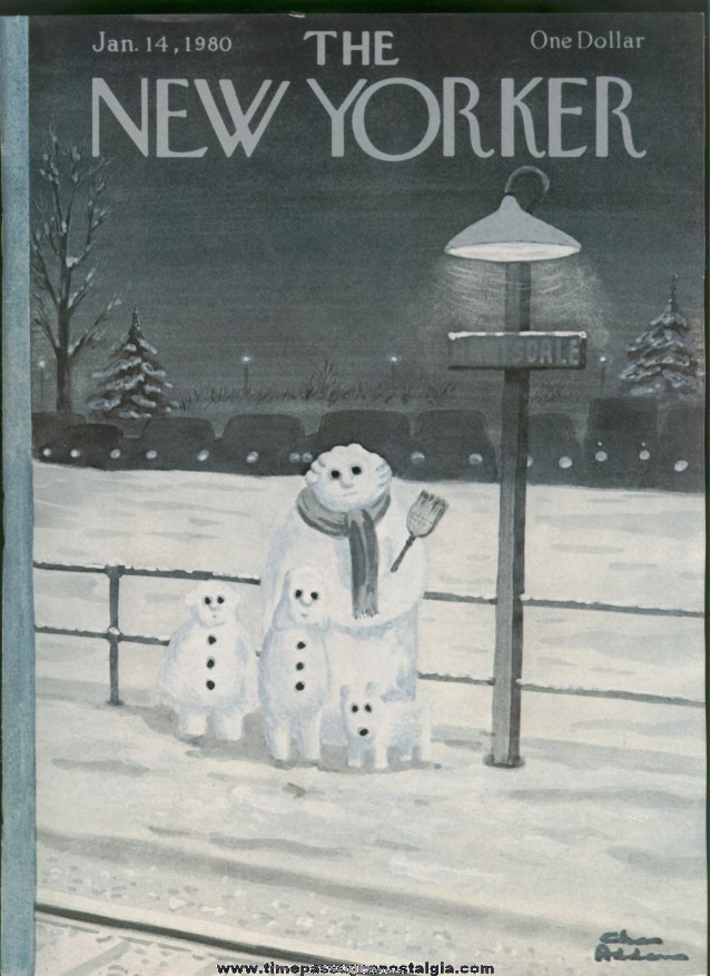 New Yorker Magazine - January 14, 1980 - Cover by Charles (Chas) Addams